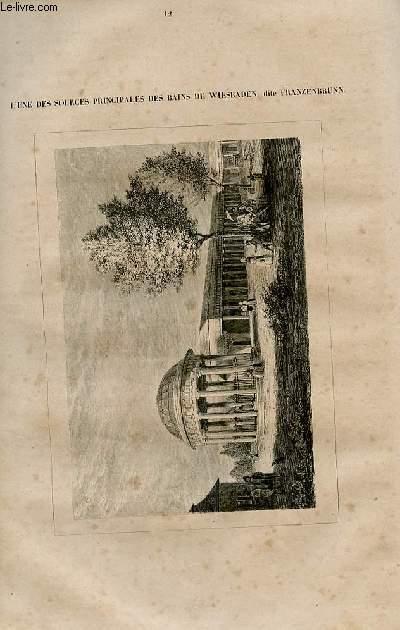 Le magasin universel - tome septième - Livraison n°12 - Un rouet au 19ème siècle. par Jules A. David.