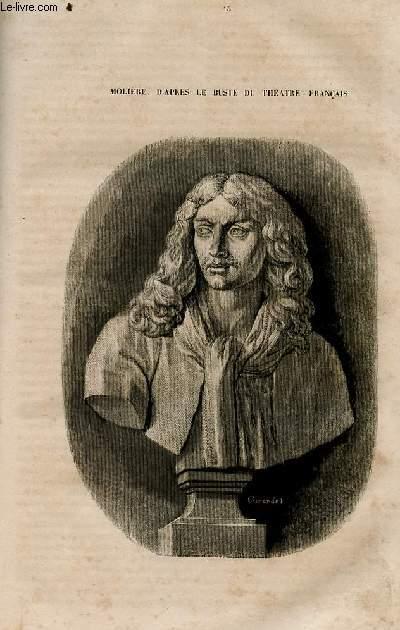 Le magasin universel - tome septième - Livraison n°15 - Le foyer du Théâtre Français - Molière, suite par Hippolyte Lucas, à suivre.