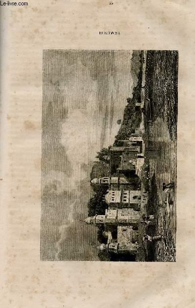 Le magasin universel - tome septième - Livraison n°25 - Hindoustan - Hurdwar par De Courtenay.