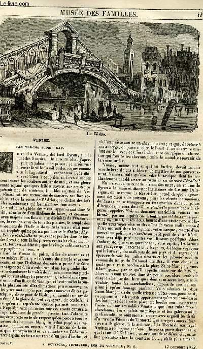 Le musée des familles - lecture du soir - 1ère série - livraison n°03 -Venise par Madame Gay.