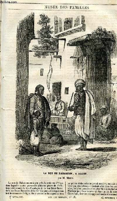 Le musée des familles - lecture du soir - 1ère série - livraison n°07 - La rue de babazoun à Alger par Merle.