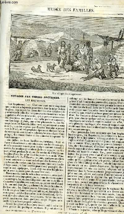 Le musée des familles - lecture du soir - 1ère série - livraison n°04 - Voyages aux terres arctiques - Les esquimaux.