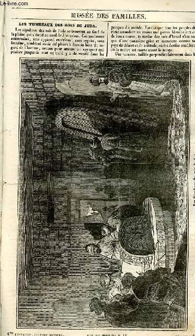 Le musée des familles - lecture du soir - 1ère série - livraison n°06 - Les tombeaux des rois de Judas.