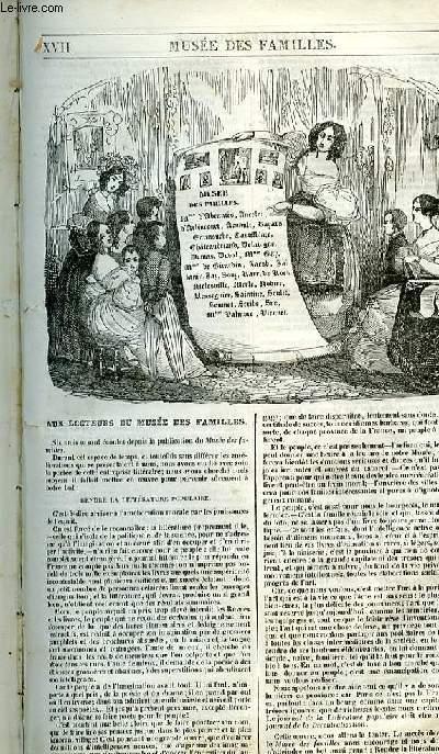Le musée des familles - lecture du soir - 1ère série - livraison n°17 - Aux lecteurs du musée des familles.