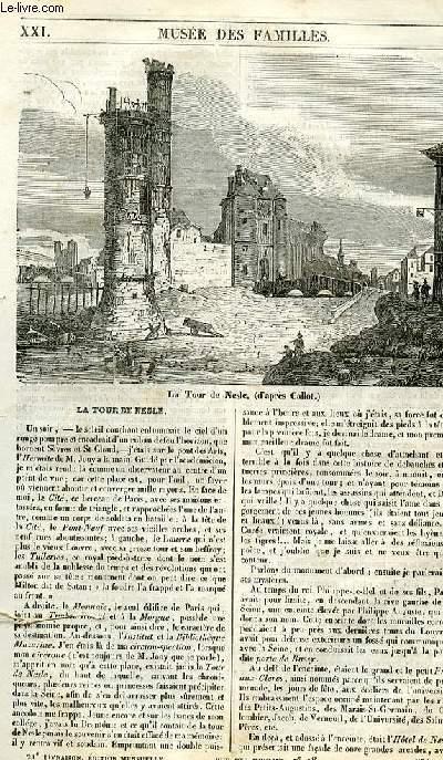 Le musée des familles - lecture du soir - 1ère série - livraison n°21 - La tour de Nesle.