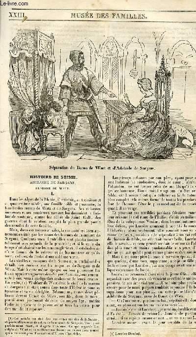 Le musée des familles - lecture du soir - 1ère série - livraison n°23 - Histoire de Suisse - Adélaide de Sargans, baronne de Wart,à suivre.