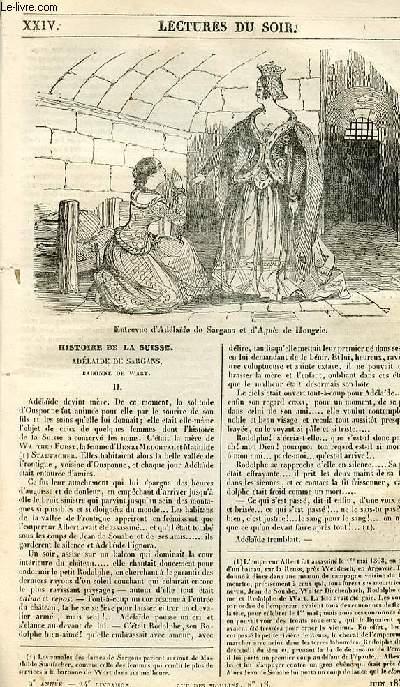 Le musée des familles - lecture du soir - 1ère série - livraison n°24 - Histoi de la Suisse, Adélaïde de Sargans, suite