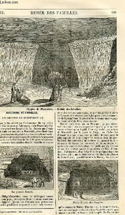 Le musée des familles - lecture du soir - 1ère série - livraison n°27 - Les cryptes de Maestricht .
