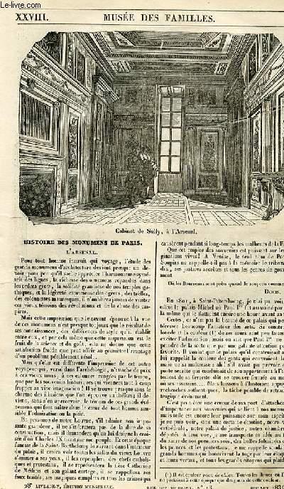 Le musée des familles - lecture du soir - 1ère série - livraison n°28 - Histoire des monuments de PAris - l'arsenal.
