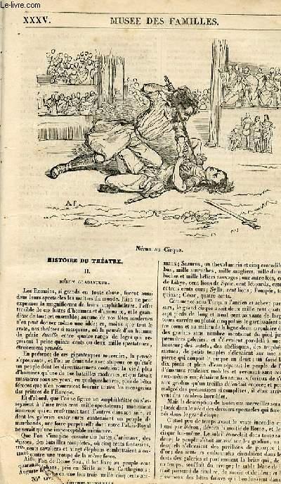 Le musée des familles - lecture du soir - 1ère série - livraison n°35 - Histoire du théâtre - Néron gladiateur.