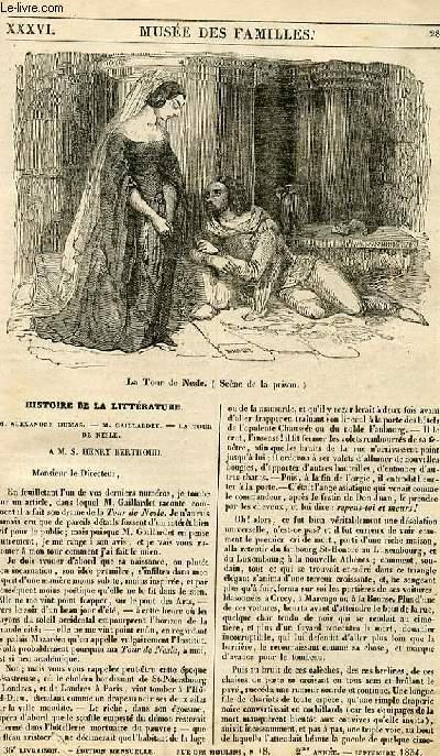 Le musée des familles - lecture du soir - 1ère série - livraison n°36 - Histoire de la littérature - Alexandre Dumas - Gaillardet - la tour de nesle.