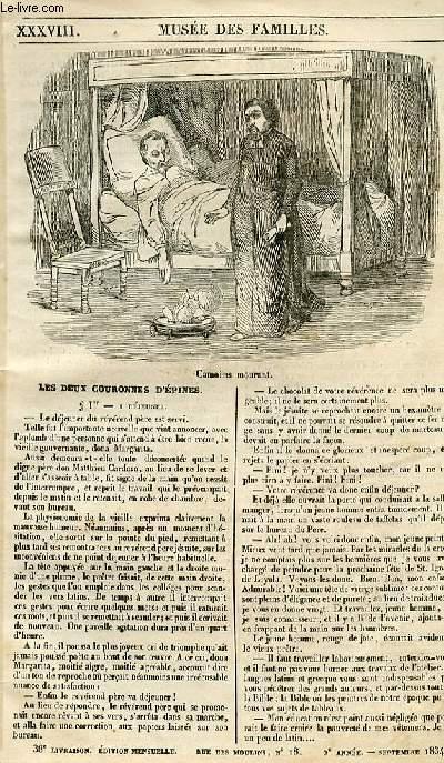 Le musée des familles - lecture du soir - 1ère série - livraison n°38 - Les deux couronnes d'Epines.