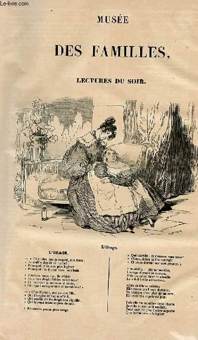 Le musée des familles - lecture du soir - 1ère série - livraison n°01 - L'orage par Mme Emile de Girardin.