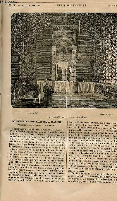 Le musée des familles - lecture du soir - 1ère série - livraison n°04 - La chapelle des crânes à Madère (fragment d'un journal de voyage)).