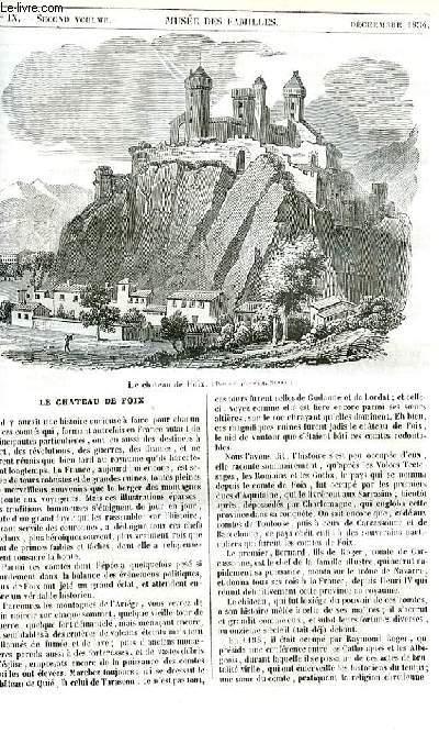 Le musée des familles - lecture du soir - 1ère série - livraison n°09 - Le château de Foix par Félix Davin.