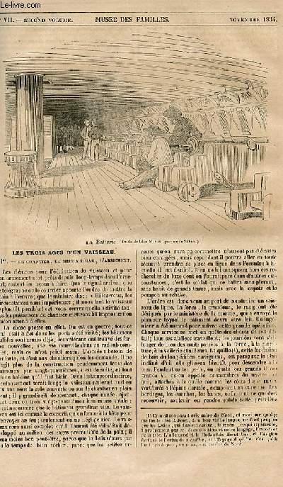 Le musée des familles - lecture du soir - 1ère série - livraison n°04 quater - Les trois âges d'un vaisseau (numéro spécial) par A. jal, historiographe de la marine.