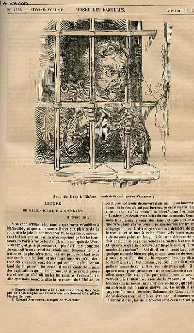 Le musée des familles - lecture du soir - 1ère série - livraison n°04 quinties - Lettre de Marion delorme à Cinq MArs, le 3 février 1641.