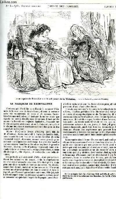 Le musée des familles - lecture du soir - 1ère série - livraison n°10 - La mrquise de Brinvilliers (numéro spécial) par la duchesse d'Abrantès.