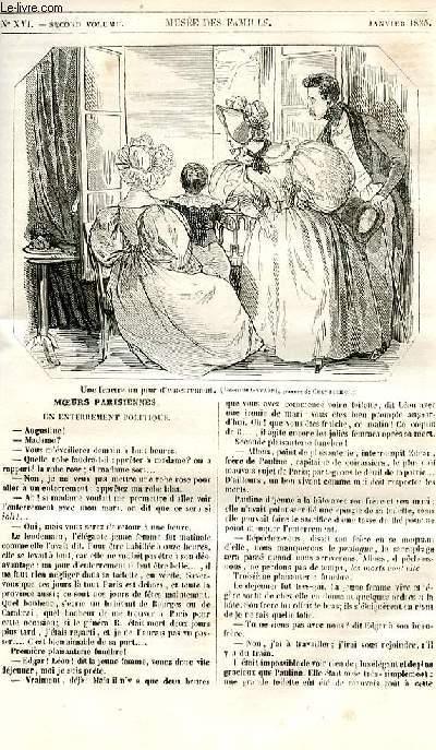 Le musée des familles - lecture du soir - 1ère série - livraison n°16 - Moeurs parisiennes - Un enterrement politique.