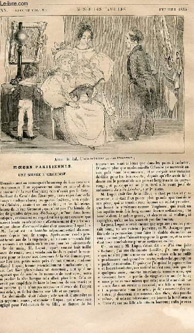 Le musée des familles - lecture du soir - 1ère série - livraison n°20 - Moeurs parisiennes - Une soirée bourgeoise par P. De Kock.
