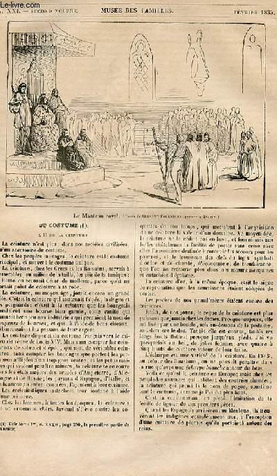 Le musée des familles - lecture du soir - 1ère série - livraison n°21 - Du costume.