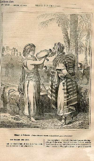 Le musée des familles - lecture du soir - 1ère série - livraison n°23 - Le salon de 1835 par H. berthoud, à suivre.