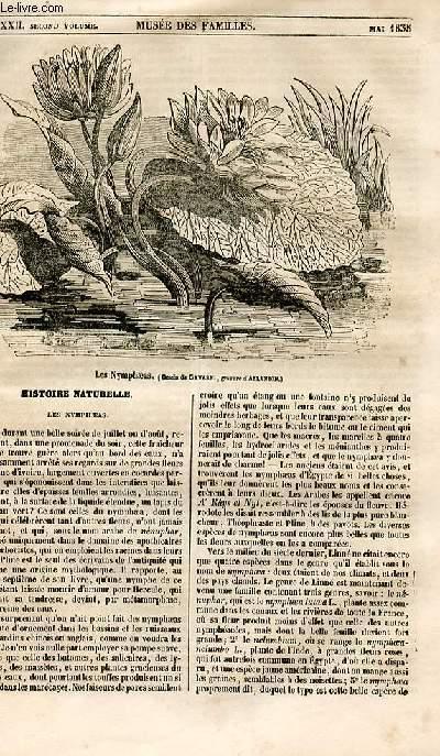 Le musée des familles - lecture du soir - 1ère série - livraison n°32 - Histoire naturelle - les nympheas.