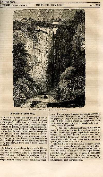 Le musée des familles - lecture du soir - 1ère série - livraison n°33 - Le pont d'Icononzo.