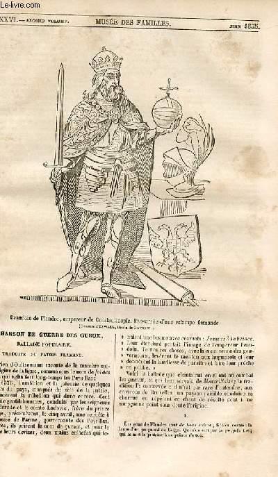 Le musée des familles - lecture du soir - 1ère série - livraison n°36 - La chanson de guerre des gueux, ballade populaire traduite du patois flamand.
