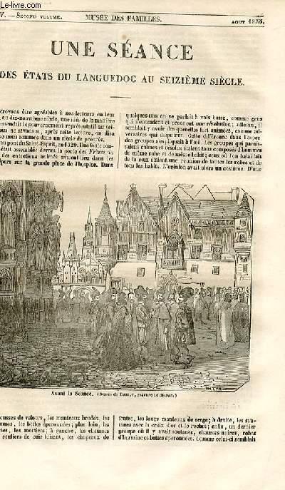 Le musée des familles - lecture du soir - 1ère série - livraison n°45 - Une séance des états du Languedoc au 16ème siècle.