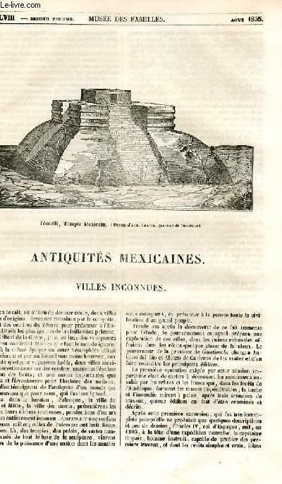 Le musée des familles - lecture du soir - 1ère série - livraison n°48 - Antiquités mexicaines - Villes inconnues.