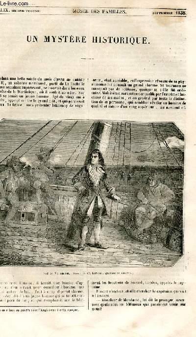 Le musée des familles - lecture du soir - 1ère série - livraison n°49 - Un mystère historique.