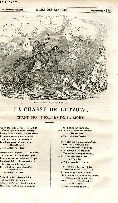Le musée des familles - lecture du soir - 1ère série - livraison n°51 - La chasse de Lutzow, chant des hussards de la mort.
