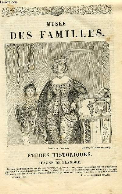 Le musée des familles - lecture du soir - 1ère série - livraisons n°01 et 02 - Etudes historiques - Jeanne de Flandre par Herbin.