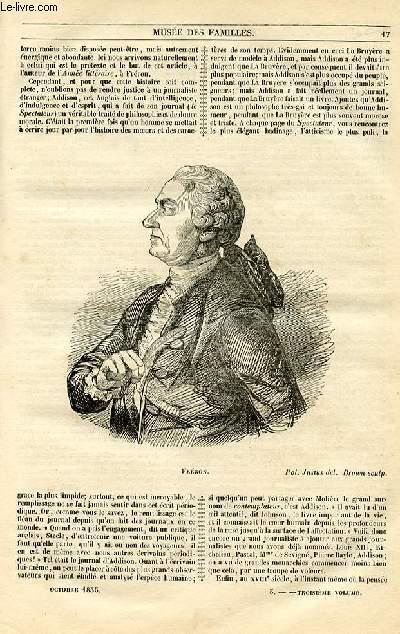 Le musée des familles - lecture du soir - 1ère série - livraison n°03 - Etudes littéraires - Fréron,suite  et fin par Jules Janin.
