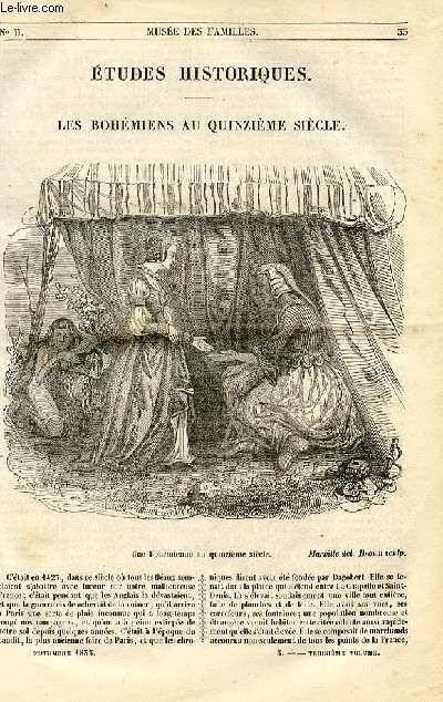 Le musée des familles - lecture du soir - 1ère série - livraison n°05 - Etudes historiques - Les Bohémiens au quinzième siècle par Soulié.