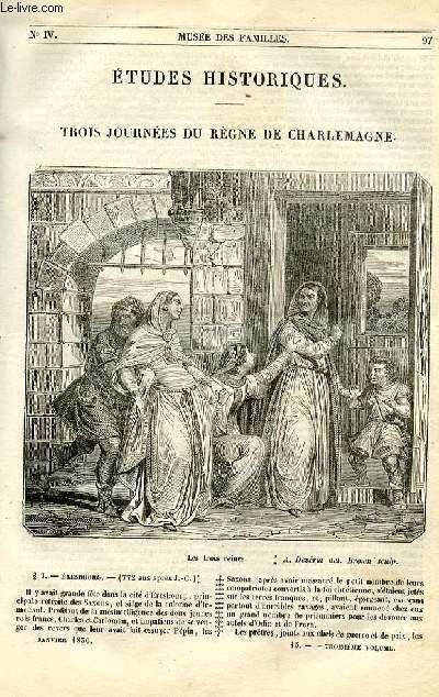 Le musée des familles - lecture du soir - 1ère série - livraisons n°13 et 14 - Etudes historiques - trois journées du règne de Charlemagne par Félix Davin.