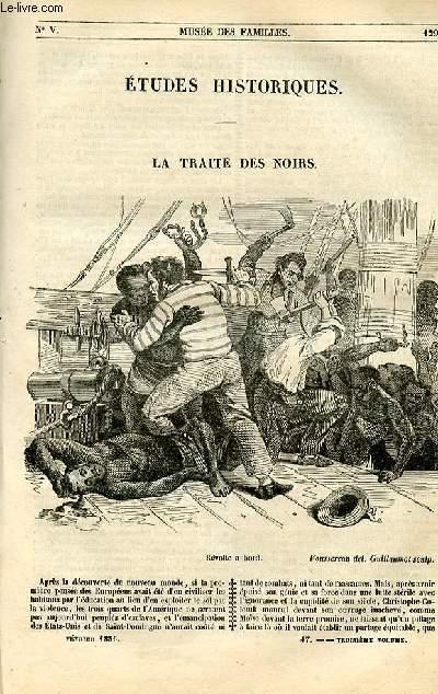 Le musée des familles - lecture du soir - 1ère série - livraisons n°17 et 18 - Etudes historiques - La traite des noirs par Chevalier.