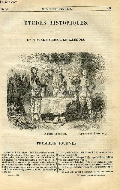 Le musée des familles - lecture du soir - 1ère série - livraisons n°21 et 22 - Etudes historiques - Un voyage chez les Gaulois par C Roland de Cadenet.