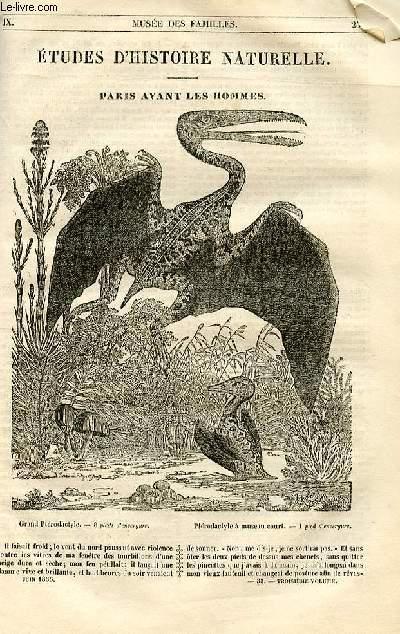 Le musée des familles - lecture du soir - 1ère série - livraisons n°33,34 et 35- Etude d'histoire naturelle - PAris avant les hommes par Boitard.