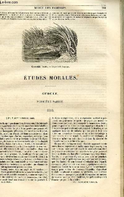 Le musée des familles - lecture du soir - 1ère série - livraison n°36 - Etudes morales - Gudule - première partie - 1610 par Berthoud.