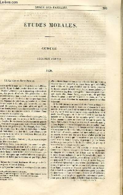 Le musée des familles - lecture du soir - 1ère série - livraison n°37 - Etudes morales - Gudule,seconde partie par Berthoud.