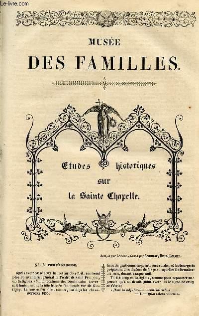 Le musée des familles - lecture du soir - 1ère série - livraison n°01 et 02 - Etudes historiques sur la Sainte Chapelle, deux numéros.
