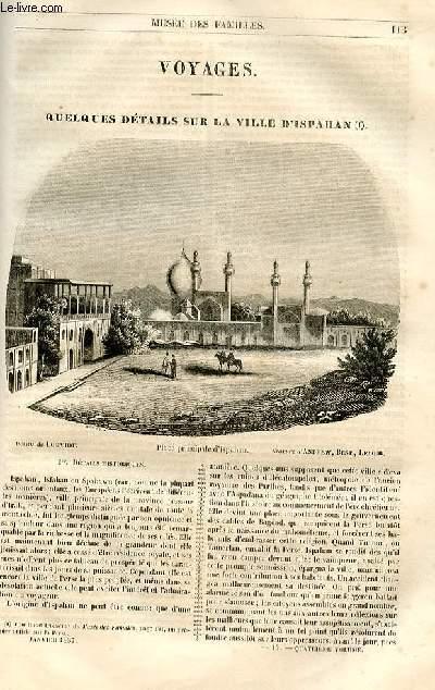 Le musée des familles - lecture du soir - 1ère série - livraison n°15 et 16 - Voyages - Quelques détails sur la ville d'Ispahan (second article sur