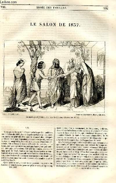 Le musée des familles - lecture du soir - 1ère série - livraison n°29 - Le salon de 1837.