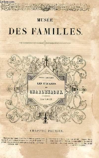 Le musée des familles - lecture du soir - 1ère série - livraisons n°01 et 02 - Etudes historiques - les enfants de Charlemagne - ann. 814-822 par Félix Davin.