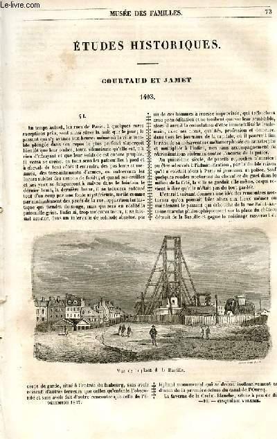 Le musée des familles - lecture du soir - 1ère série - livraison n°10 - Etudes historiques - Courataud et Jamet - 1403, par Edmond Leclerc.