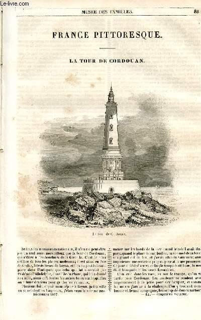 Le musée des familles - lecture du soir - 1ère série - livraison n°12 - France pittoresque - la tour de Cordouan par Joseph Avrilleau.