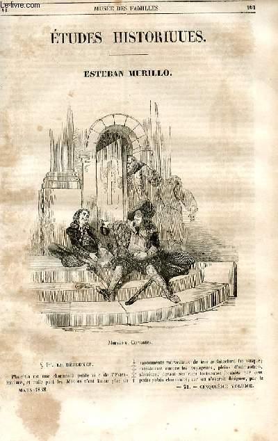 Le musée des familles - lecture du soir - 1ère série - livraison n°21 - Etudes historiques - Esteban Murillo par une contemporaine.