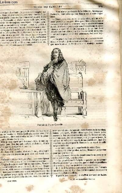 Le musée des familles - lecture du soir - 1ère série - livraison n°35 - Deux semaines de Pierre Corneille  par Henry Berthoud, suite du chapitre 4: Un chapitre de roman cardinalesque.